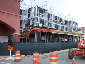 The Hyatt Place at Eagle Village is scheduled to open later this year.