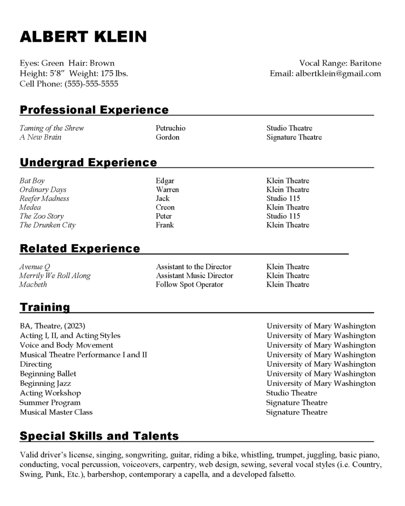 sample resumes  u00bb center for career and professional