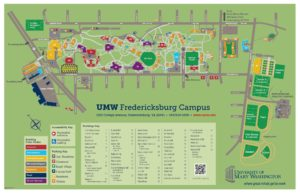 Umw Campus Map Map of Fredericksburg Campus   Great Lives
