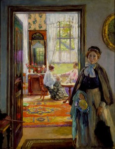 The Open Door, a celebrated painting by Gari Melchers