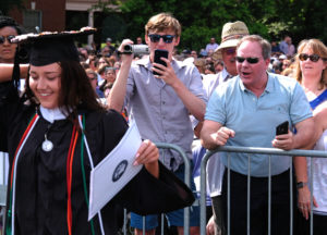 The University of Mary Washington awarded degrees to 1,161 students during its 107th Commencement. Photo by Norm Shafer.