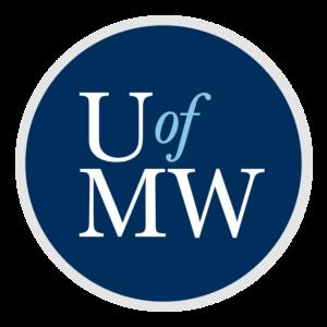 blue background - UMW logo