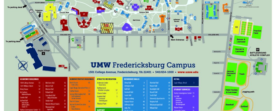 Umw Campus Map Maps & Directions   Maps and Directions
